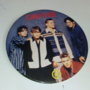 Take That Huge pin Badge 7 inch Pretty col retro pop item